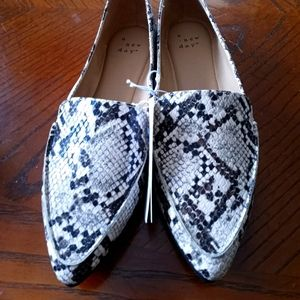A New Day Snakeskin Flats